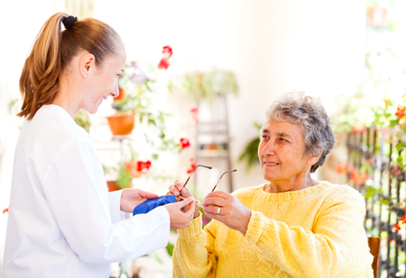 Find the right home caregiver for your loved Stock Photo