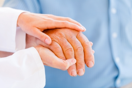 Giving  helping hands for needy elderly people