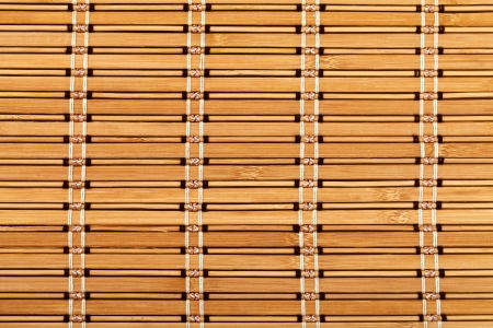 Close up photo of a bamboo table mat photo