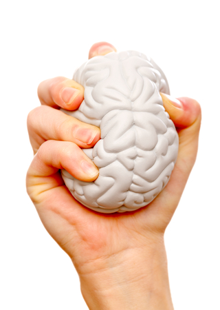 muscle tension: Stress ball help to relieve the stress and muscle tension Stock Photo