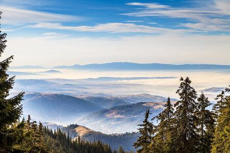 transylvania: Picturesque landscape on the mountains in Transylvania