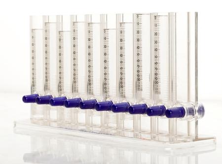 erythrocyte: Closeup foto di eritrociti strumento tasso di sedimentazione