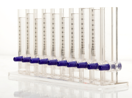 sterilized: Closeup photo of erythrocyte sedimentation rate instrument Stock Photo