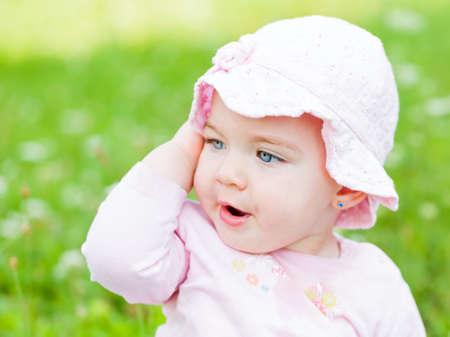 wellness sleepy: Close up photo of an adorable baby girl