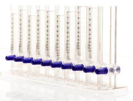 erythrocyte: Foto del primo piano di eritrociti strumento tasso di sedimentazione Archivio Fotografico