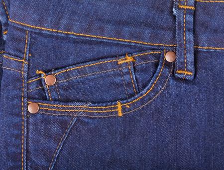 jeans pocket: Close up photo of blue jeans pocket