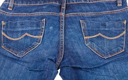 indigo: Close up photo of indigo blue jeans