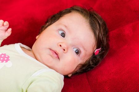 nursling: Portrait of adorable few months old baby