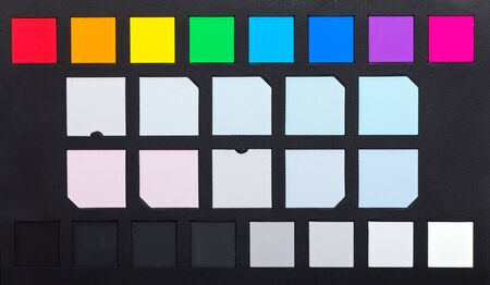 gamut: Close up photo of a color checker tool