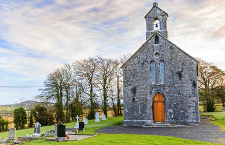 churchyard: Photo of an irish churchyard and cemetery