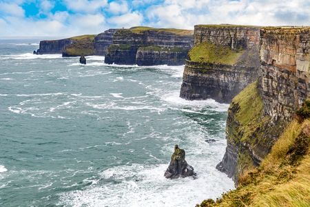 tourist tourists: Cliffs of Moher Tourist Attraction in Ireland
