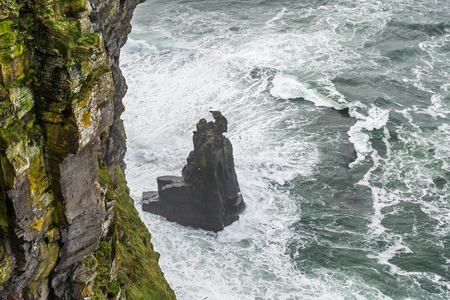 moher: Detail photo of Cliffs of Moher in Ireland Stock Photo