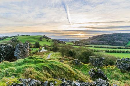 countryside landscape: Photo of beautiful irish landscape in the winter