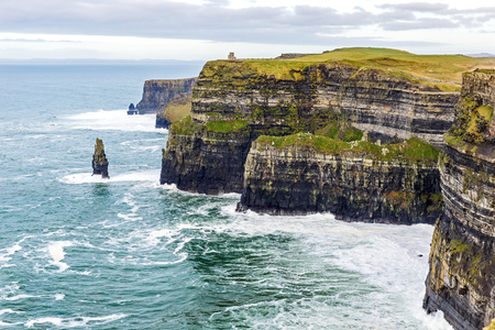 cliff top: Cliffs of Moher Tourist Attraction in Ireland