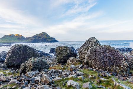 giants: Photo of Giants Causeway coast in Ireland Stock Photo