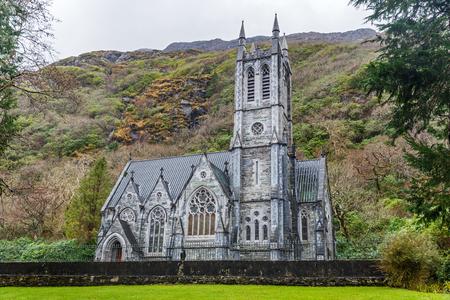 connemara: Photo of a gothic church in Connemara mountains Stock Photo