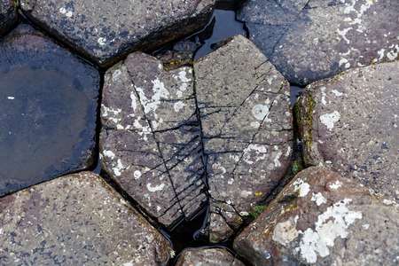 giants: Close up photo of the stones from Giants Causeway Stock Photo