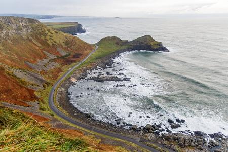 causeway: Photo of Giants Causeway coast in Ireland Stock Photo