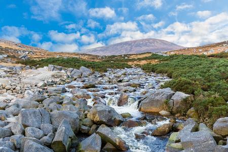 irish landscape: Photo of beautiful irish landscape in Wicklow mountains Stock Photo