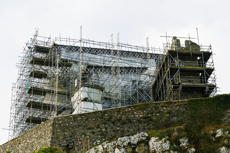 reconstructing: Rock of Cashel irish heritage under renovation