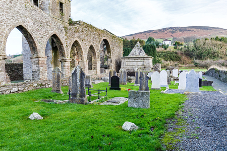 abbey ruins abbey: Photo of the Baltinglass abbey ruins in Ireland Stock Photo