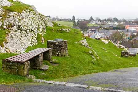 ornamental garden: Landscape photo of Cashel town from the hill Stock Photo