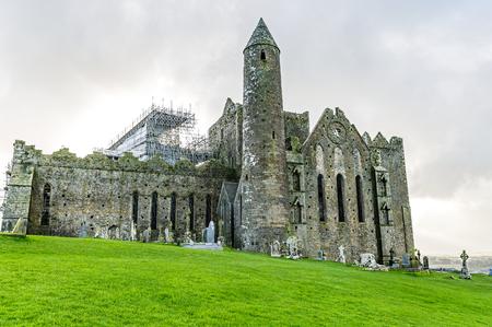 irish landscape: Landscape photo of Rock of Cashel irish heritage Stock Photo