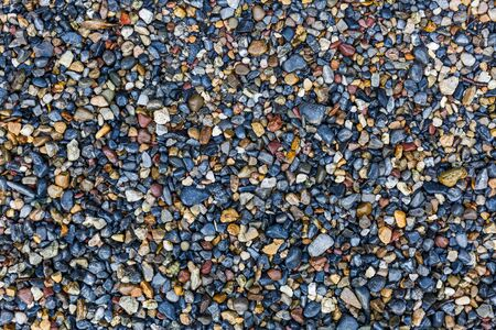 Close up photo of colorful small gravel texture