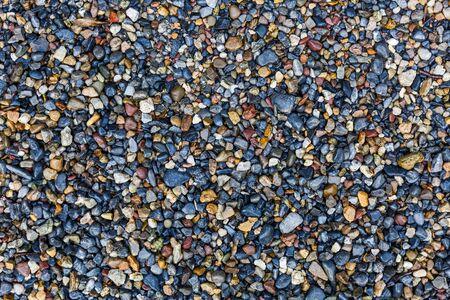 Close up foto di texture piccole ghiaia colorata