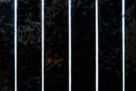 abstractly: Close up photo of black and white striped tile texture Stock Photo