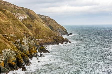 rocky coastline: Photo of a rocky coastline in Ireland Stock Photo