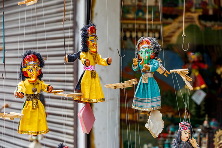 thailand culture: Photo of colorful marionette puppets for sale