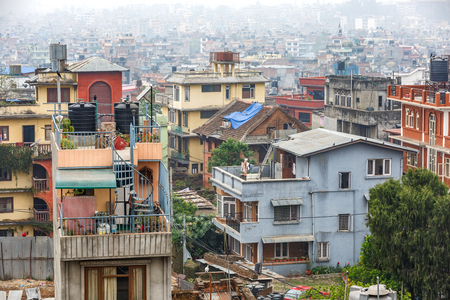 Cityscape of Kathmandu city from the rooftop Stock Photo