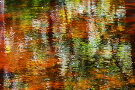 Close up photo of colorful abstract water reflection Stock Photo