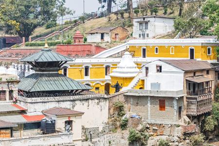 hindues: Foto de detalle de los hindúes Pashupatinath lugar más sagrado