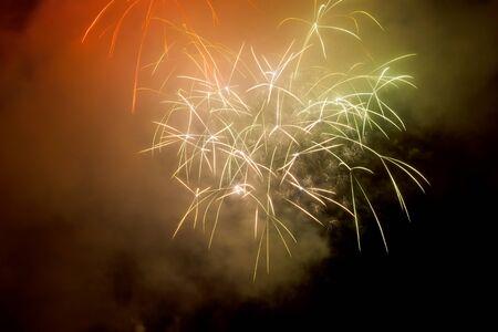 dark sky: Photo of wonderful fireworks on dark sky