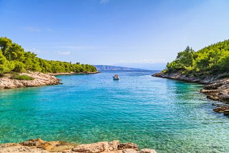rocky coastline: Landscape photo of beautiful adriatic rocky coastline