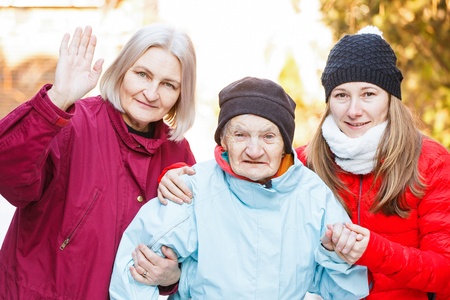 carers: Photo of elderly woman and her carers