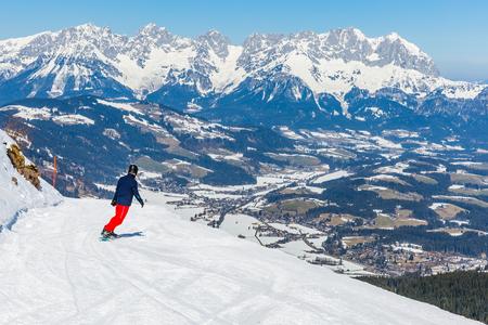 winterly: Snowy winter landscape of a ski resort in the Alps