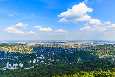 Beautiful landscape photo of Budapest from afar