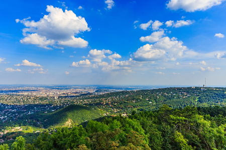 alpine zone: Beautiful landscape photo of Budapest from afar