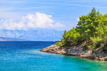 picturesque: Landscape photo of beautiful adriatic rocky coastline