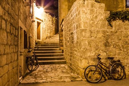 Photo of mediterranean town in Croatia at night