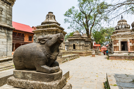Pashupatinath hindu temples one of the most sacred place in Kathmandu Stock Photo