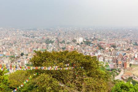 Panorama view of Kathmandu city in Nepal