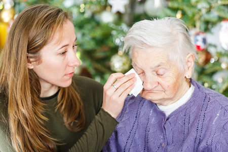 Photo of elderly women with the young carer