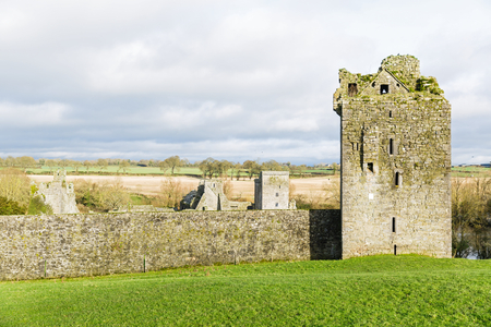 Landscape photo of Kells Priory in Ireland