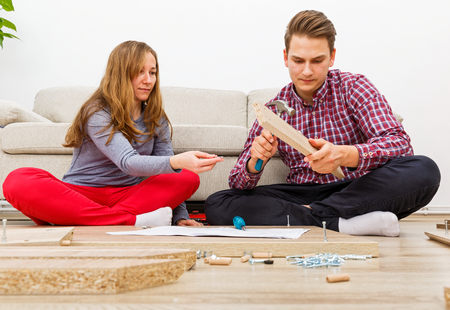 Home improvement, do it yourself activity in new home Reklamní fotografie