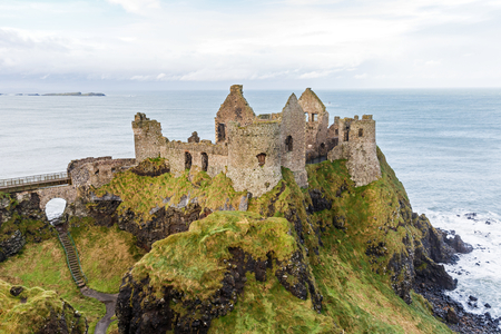 Photo of Dunluce castle in Northern Ireland Stock Photo