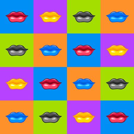 Lips texture  Lips illustration  Illustration